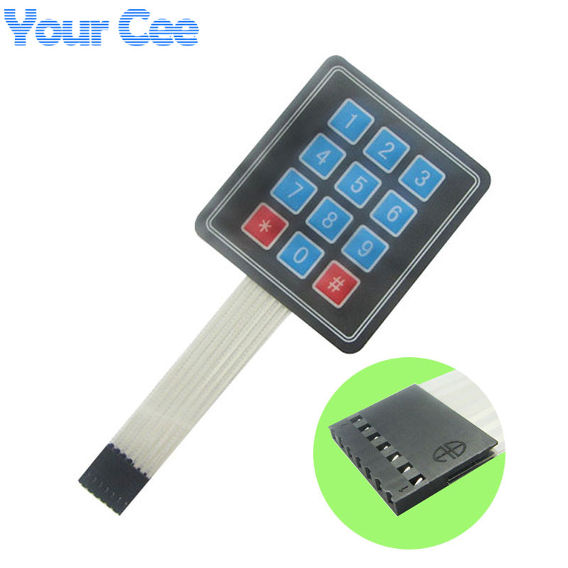4x3 Matrix Array 12 Key Membrane Switch Keypad Keyboard 3*4 Control Panel Microprocessor ...