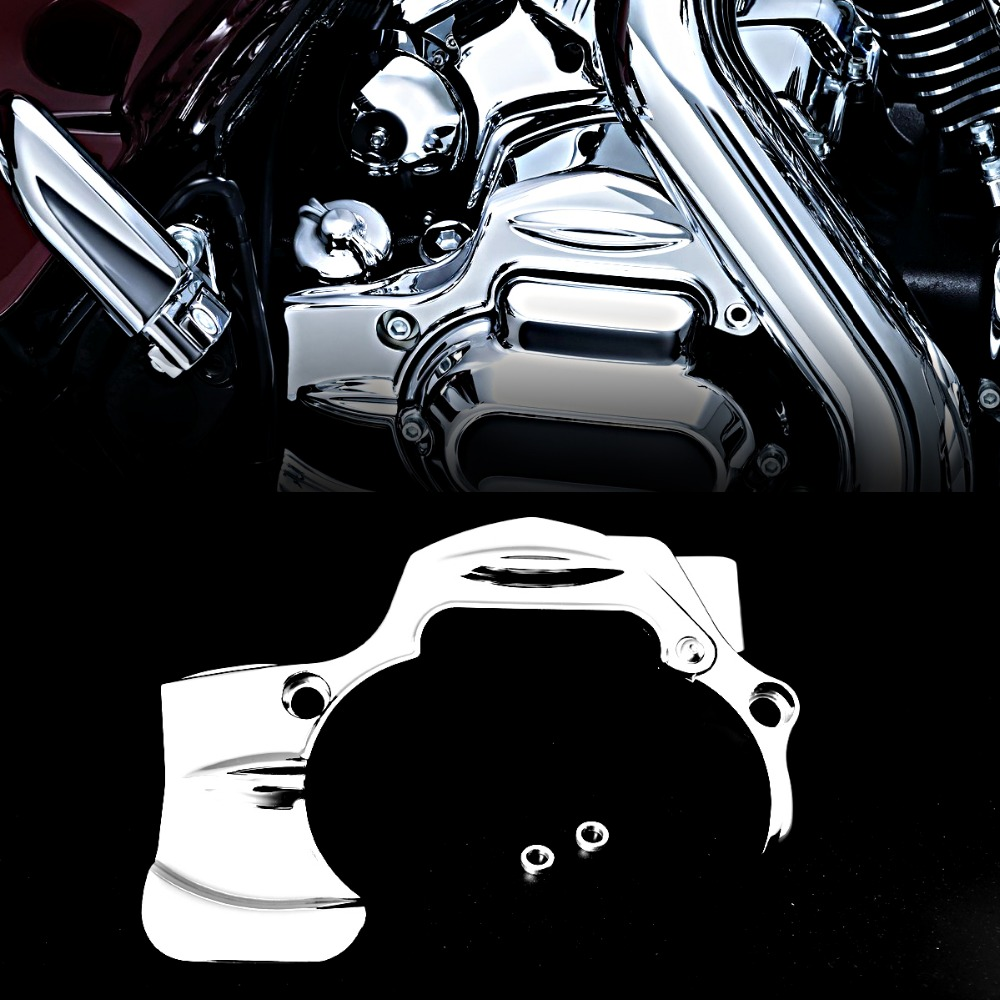 Chrome Transmission Shroud Cover For Harley Street Glide FLHX FLHXS CVO Road King 2009 2016 Models