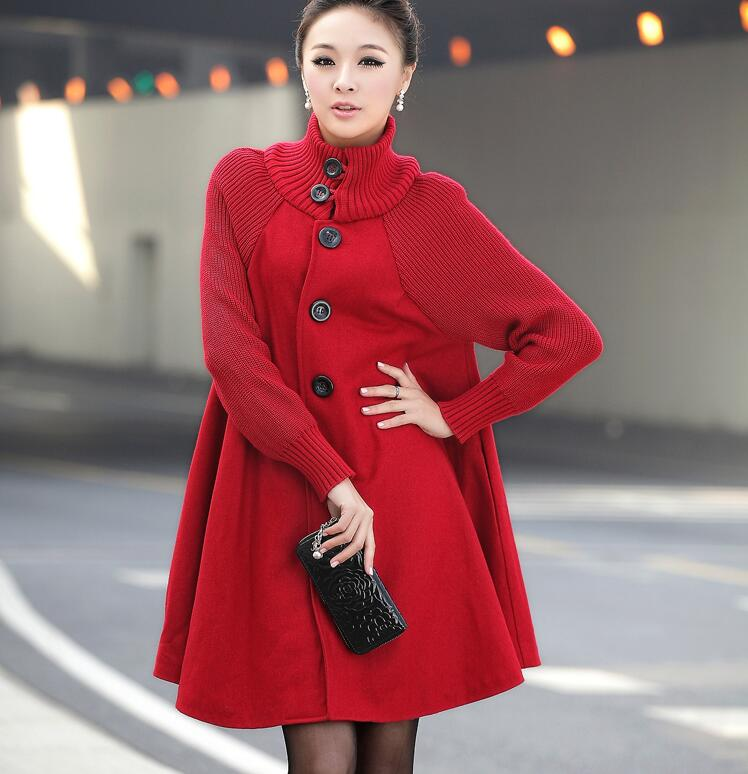 2018 Autumn Winter Plus Size Pregnancy Women Jackets Long Loose Woolen Coat For Pregnant Women Knitted Cloak Wool Coat недорго, оригинальная цена
