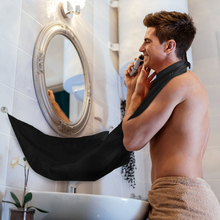 FHEAL Design Beard Care Shave Apron Bib Catcher Trimmer Facial Hair Cape Sink Black Shaving Aprons For Man Indoor Bathroom Clean