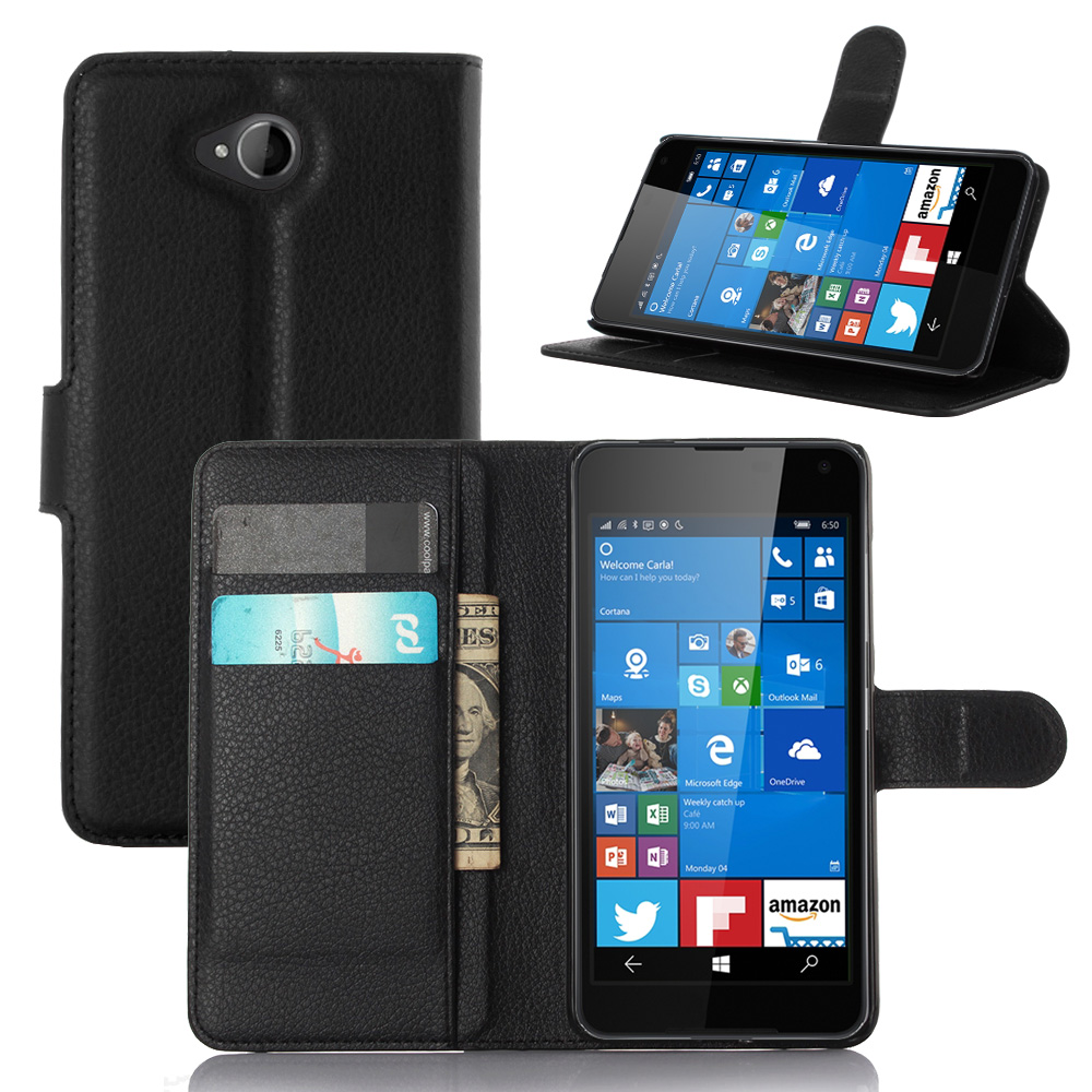 Case For Nokia 650 Luxury Wallet PU Leather Case For Nokia Microsoft Lumia 650 Case 5 Stand Flip Card Hold Phone Cover Bags