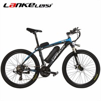 LANKELEISI 26 Inç 36V20A/240 W T8 Lityum Elektrikli Dağ Bisikleti Alüminyum Alaşımlı Spoked Tekerlek Tam Süspansiyon Bisiklet