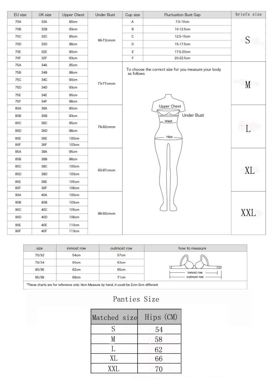 VS מותג 2019 חם לדחוף את חזיית סט תחתוני נשים מלא כיסוי תחרה נוחה Underwire ריפוד חזיית תחתוני סט עבור גבירותיי