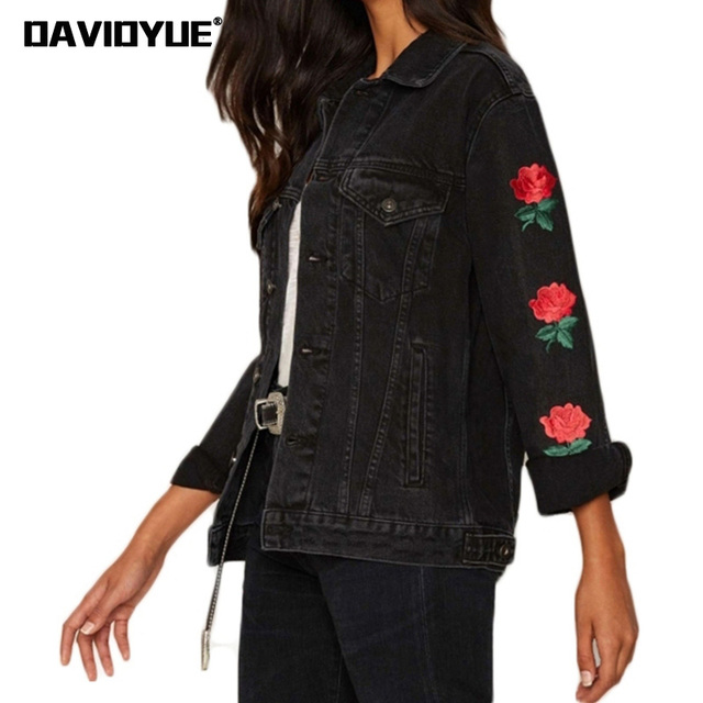 Ethyl Embroidered Jean Jacket (For Women)