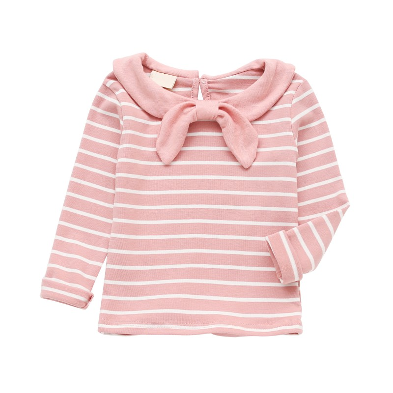 Clothing Tops Bows-Shirts Long-Sleeve Autumn Baby-Girl Striped Fashion Children Brand