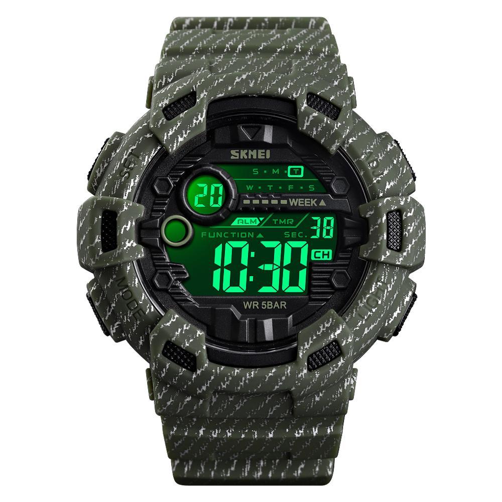 SKMEI 2019 montre numérique étanche lumineuse en plein air militaire Cowboy Sports hommes montre-bracelet Relogio Masculino reloj hombre 1472
