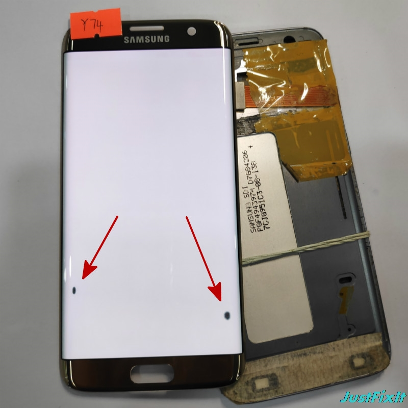 NO y74 for Samsung Galaxy S7 edge G935F G935A G935FD Defect lcd display with touch screen