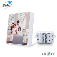 Saful Picture All Available DIY Painting Touch Screen Wall Switch 1 Gang 1 Way Crystal Glass Switch Remote Wireless Touch Switch