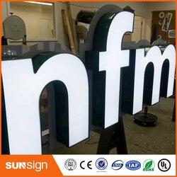 Custom frontlit led reclame bewegwijzering
