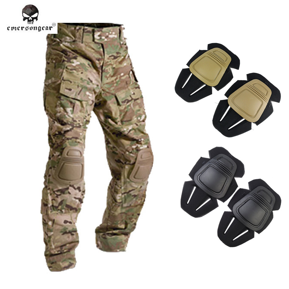 Prix pour Emerson G3 Protecteur Genouillères Paintball Airsoft Tactical Combat Genou pour Sport En Plein Air G3 Pantalon Pantalon Kness Protecteur