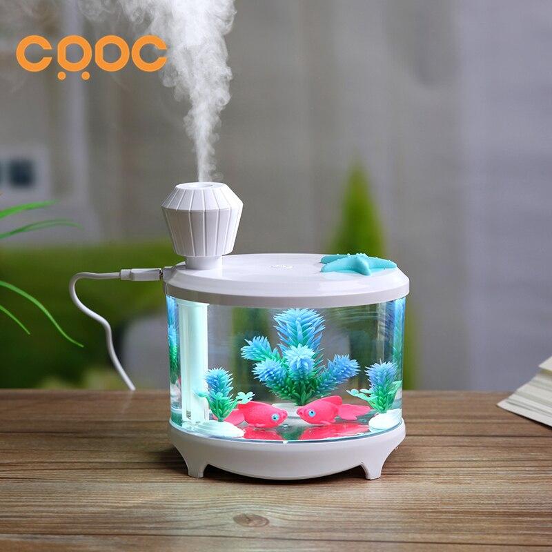 CRDC 460ML Aroma diffuser USB Fish tank Essential Oil Diffuser Ultrasonic Aromatherapy humidificador Mist Maker Air difusor fish oil в аптеке