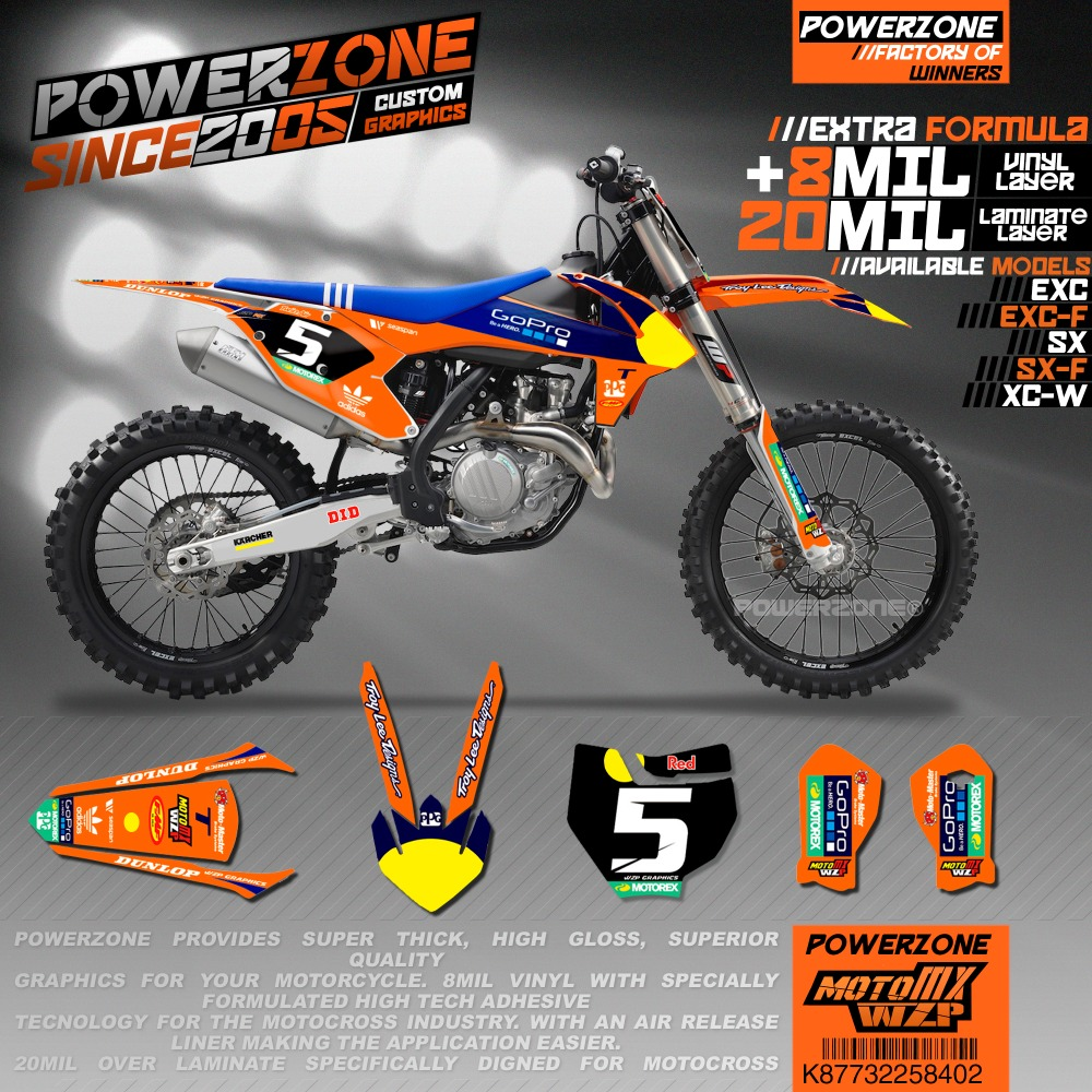 Customizable Team Graphics Backgrounds Decals 3M Stickers GP Factory Style Kits  For KTM SX SXF EXC XCW 2005 -2019 K87732258402Customizable Team Graphics Backgrounds Decals 3M Stickers GP Factory Style Kits  For KTM SX SXF EXC XCW 2005 -2019 K87732258402