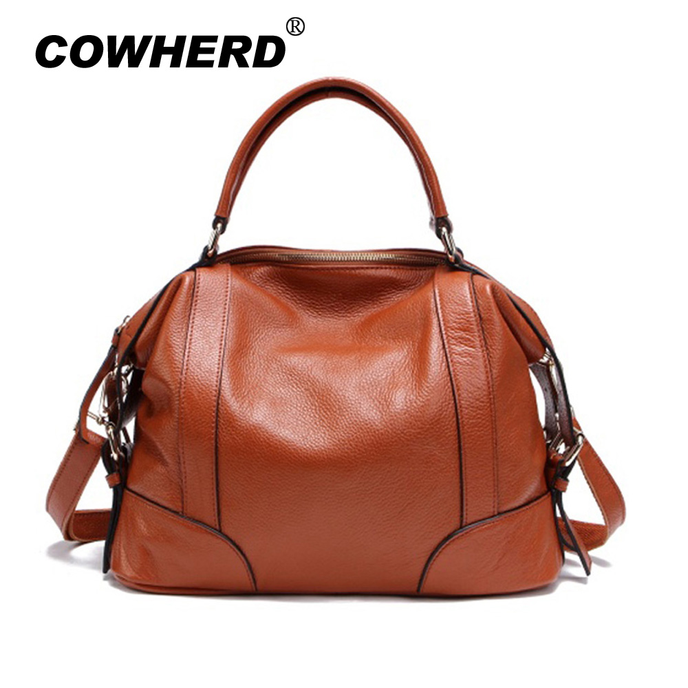 2 Sizes Fashion Tote Bag for Women New Classic Leisure Handbag Genuine Cow Leather Female Messenger Bags bolsa feminina 1006 2 sizes fashion tote bag classic women leather handbags cowhide women handbag genuine leather women messenger bags vp pa1006