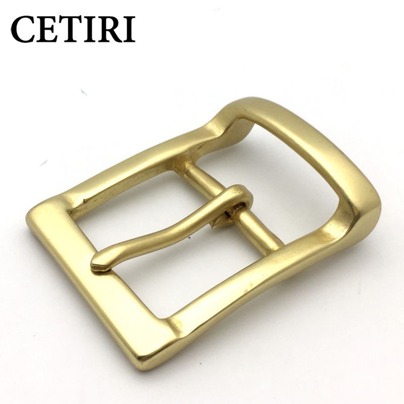 CETIRI DIY Leather Craft Hardware Solid Brass Pin Buckle Belt Brushed Metal Mens Womens Jeans Accessories Cosplay For 3.8cm