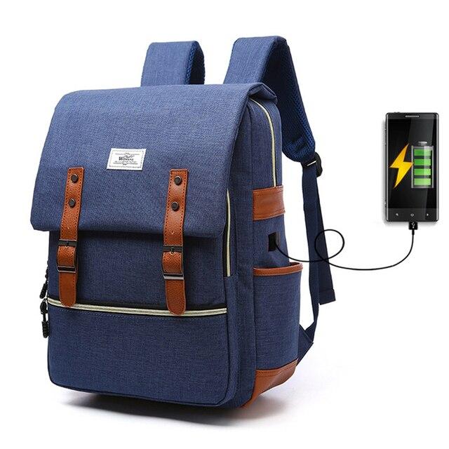 9f0519d219819 ZHIERNA USB حقيبة ظهر ذكية حقيبة الكتف للرجال الإناث حقيبة لطلاب المدارس  الذكور سعة كبيرة النساء