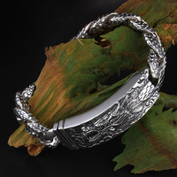 925 стерлингового серебра Тайский серебряные браслеты индивидуальность Лидер мужской браслет серебро 925 jewelry SB263