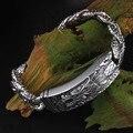 925 plata de ley Tailandesa plata pulseras individualidad líder pulsera 925 joyería de plata de los hombres SB263