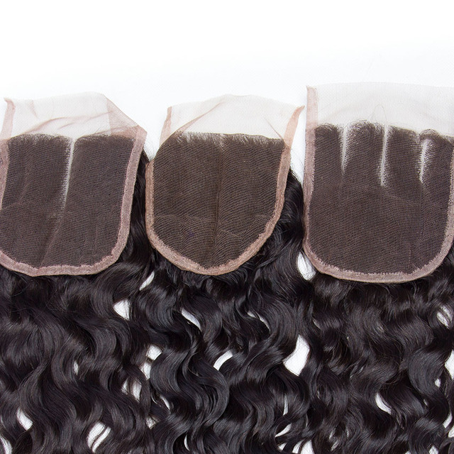 Water Wave Malaysian Remy Human Hair Closure Weave