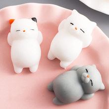 Squishy toys colorful change Antistress Ball cat/seal/fox/pig/sun Squeeze cute Amimal squishes slow rising Stress Relief Kawaii