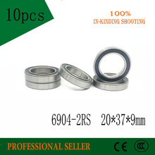 6904 2RS ABEC 5 Bearing  10PCS 20x37x9 mm Thin Section 6904 2RS Ball Bearings 6904RS 61904 RS