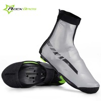 Rockbros Cycling Shoe Cover Waterproof Reflective Windproof Warm Bicycle Overshoes Sport Shoes Cover Road Bike Boot Cover