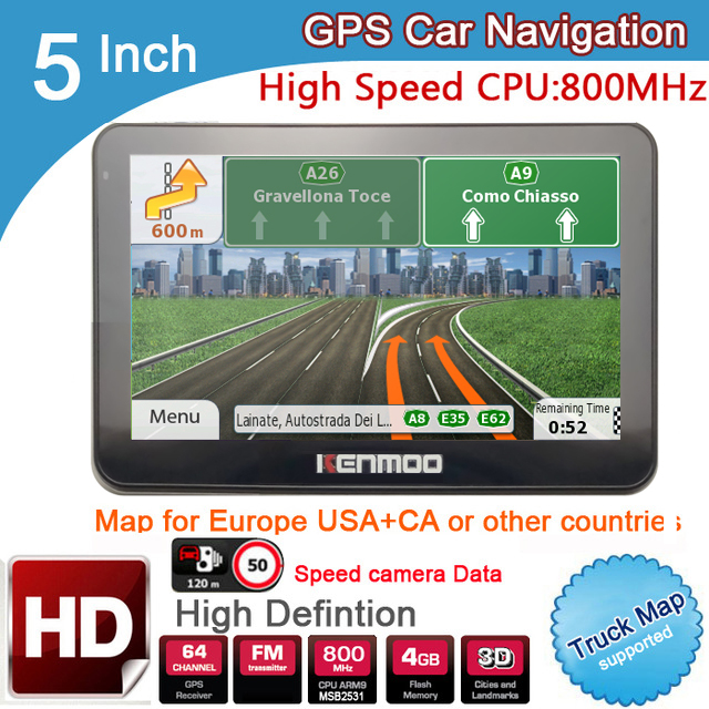 New 5 inch HD Car GPS Navigation 800MHZ FM 8GB 2019 Maps For Russia Belarus Europe