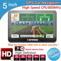 New 5 inch HD Car GPS Navigation 800MHZ FM/8GB/ 2019 Maps For Russia/Belarus Europe/USA+Canada TRUCK Navi Camper Caravan