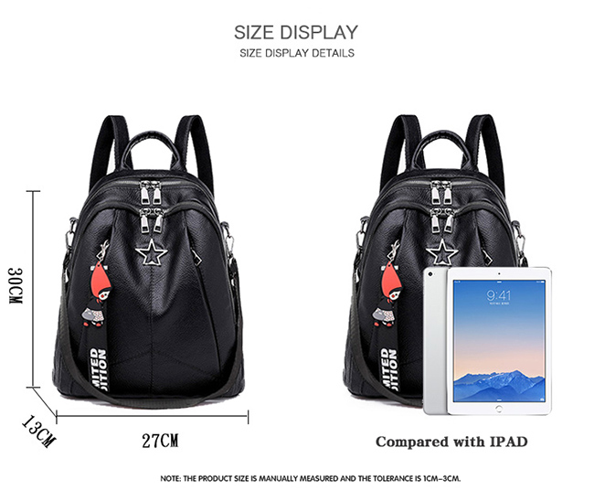 HTB1gJrkM6TpK1RjSZKPq6y3UpXa1 Minimalism Female Backpack Pu Leather Youth Women Bagpack Beautiful Fashion Girl Casual Rucksacks Lady Shoulder Bag 2019 New