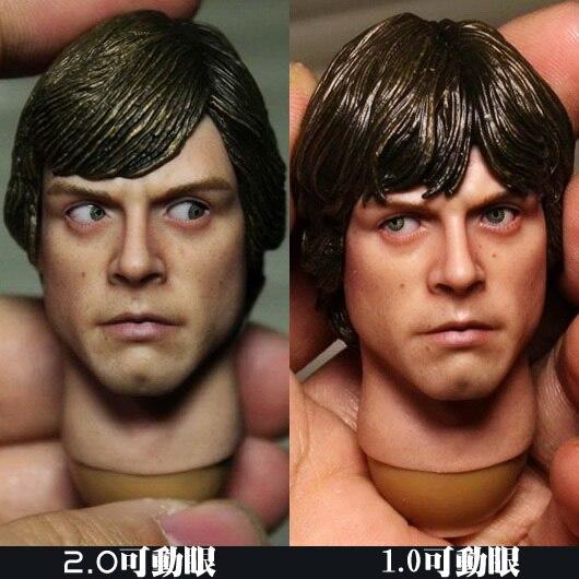 ФОТО 1/6 figure doll head.Star Wars luke Movable eyes head shape.doll accessories for DIY12