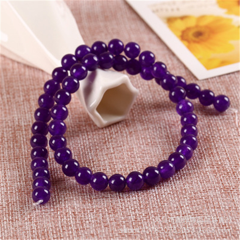 ACLOVEX 1strand 4mm 6mm 8mm 10mm 12mm Natural Amethysts Beads Round Natural Stone Spacer Beads For Diy Jewelry Making Findings