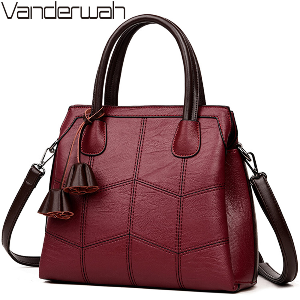 VANDERWAH NEW Luxury Handbags Women Bags Designer Leather handbags Women Shoulder Bag Female crossbody messenger bag sac a main vanderwah crocodile pattern leather luxury handbags women bags designer women shoulder bag female crossbody messenger bag sac