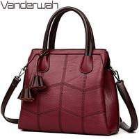 VANDERWAH NEW Luxury Handbags Women Bags Designer Leather Handbags Women Shoulder Bag Female Crossbody Messenger Bag