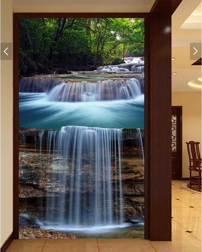 3d wallpaper custom photo non-woven mural wall sticker 3d Forest streams waterfall porch painting 3d walls room murals wallpaper