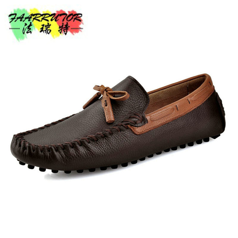 Men's Step-in Slip-on Casual Moccasins Genuine Loafers Breathable Boat Shoes Driver Shoes New Design Flat Round-toe Shoes Men men s slip on loafers casual crocodile leather loafers breathable moccasins shoes boat shoes driving shoes flat shoes for men