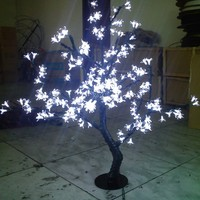 0.8M /2.6ft height LED Cherry Blossom Tree Outdoor Wedding Garden Holiday Light Decor 240 White /Blue/Green LEDs