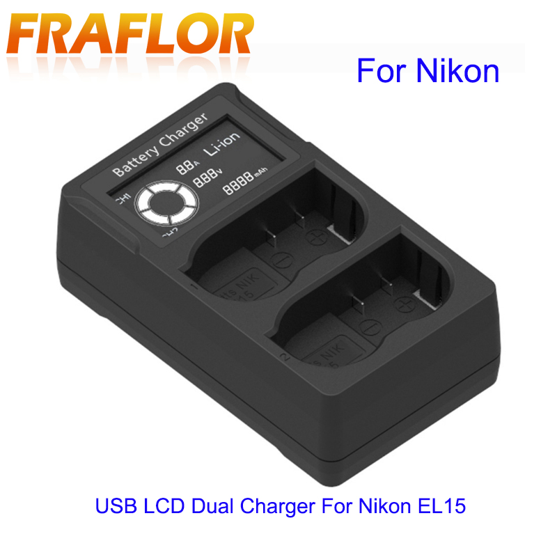 Humorous Lcd Display Dual Ports Charger Support Battery Status Display For Nikon El-15 Digital Camera Usb Port Digital Camera Charger To Help Digest Greasy Food Back To Search Resultsconsumer Electronics