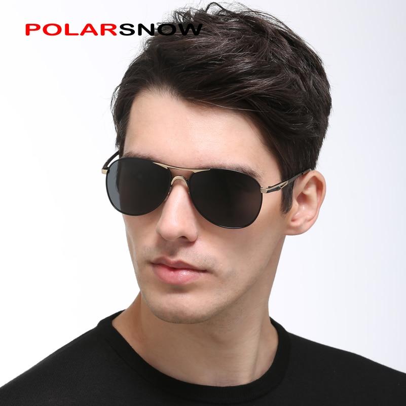 POLARSNOW Поляризованные Алюминиевые Magesium Солнцезащитные Очки Для Мужчин Бренд Дизайнер 2019 Высокое Качество Классические Солнцезащитные Очки Вождения P8561
