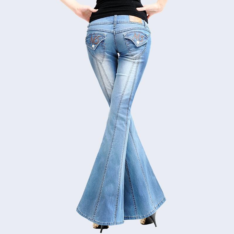 Femenina Vaqueros Lavado Blue Calidad Alta De Cuerno Otoño Grande Pantalones Moda Mujer Denim Gran deep Blue Super Vaqueros Ropa Jeans 64nTW