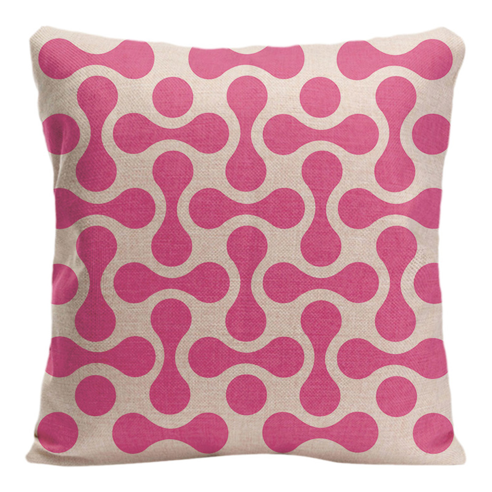 Geometric patterns Cushion Cover Cotton Linen Home Decorative Pillow - Home Textile - Photo 2