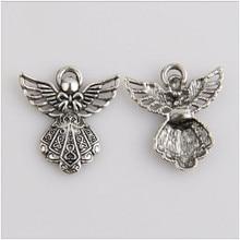 20pcs Tibetan silver pendant jewelry making charm of angel
