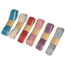 2 Meter Multi-colored Gold Rim Ribbons For Gift box Bouquet Packaging Decorative Straps