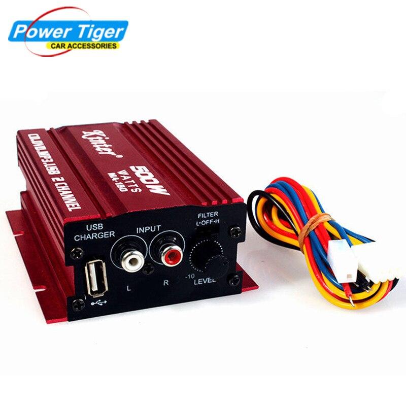 Kinter Hallo-fi 12 V 2CH USB Mini Digital Auto Power Verstärker Subwoofer Auto Audio Stereo verstärker Motorrad/Boot/MP3/MP4/CD