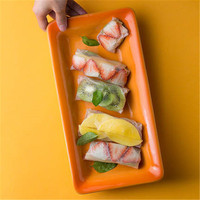 KINGLANG Western style ceramic Western steak risotto baking tray gradient long strip plate baking tray home dinnerware