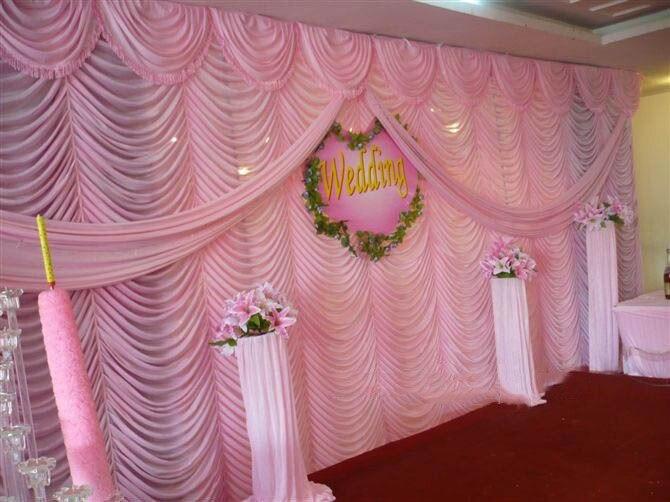 2018 Luxury 10ft20ft baby pink Wedding Backdrop hot pink