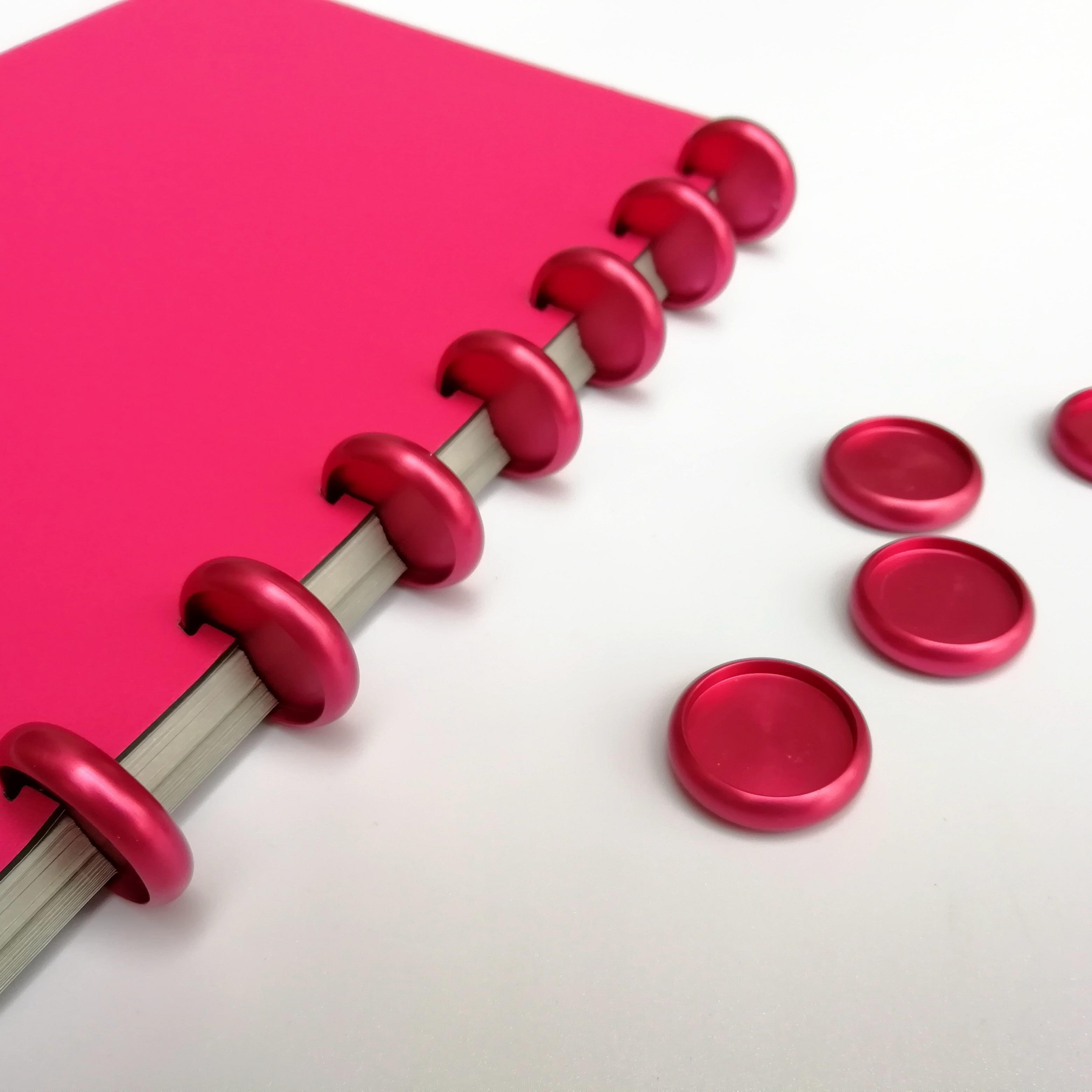 10pcs 24mm Aluminum Binding Ring Buckle Mushroom Hole Binder With Metal Disc Disc Binding  Book Binding Supplies A5 Binder