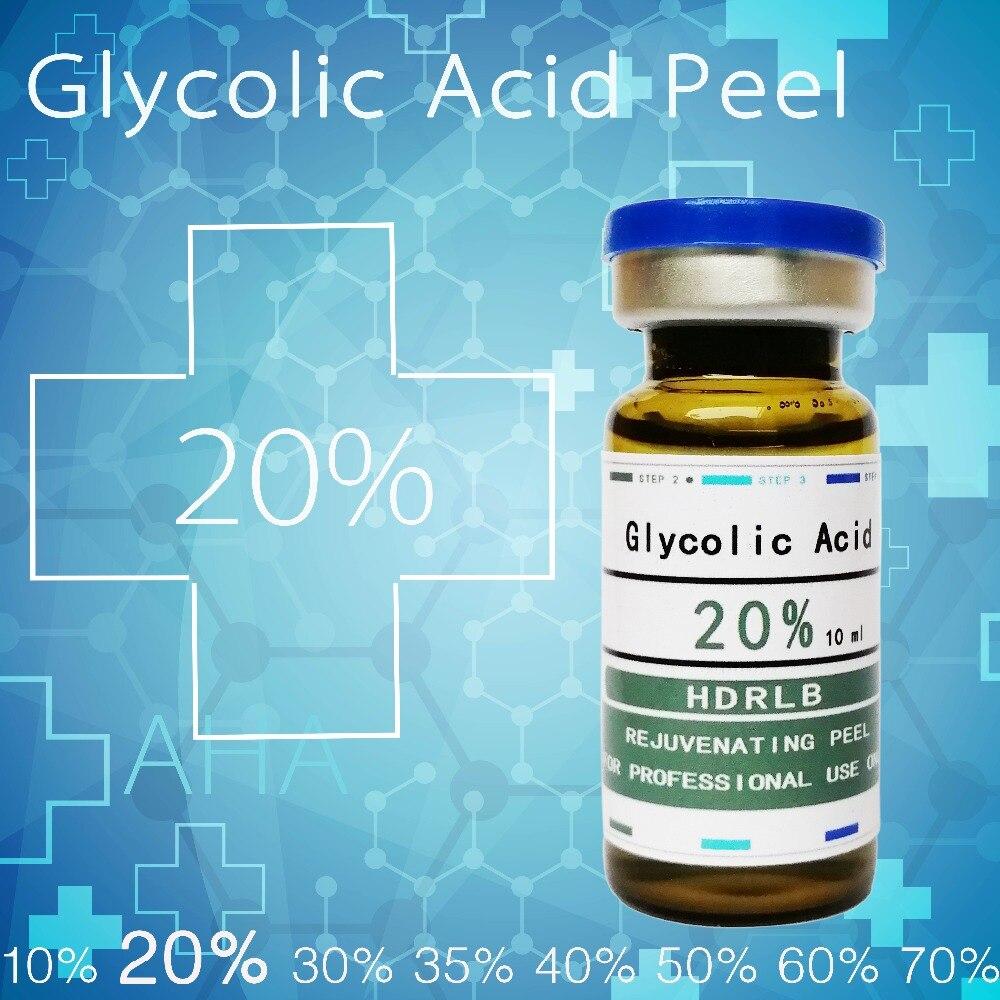 Verrückte verkäufe glykol säure 20% glykol säure chemical peel 20% Peeling gesicht peeling akne mitesser entferner peeling rosacea