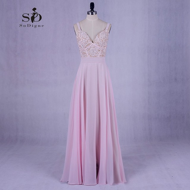 Pink Girl Prom Dress Cheap Elegant Wedding Party Dresse With Delicate  Appliques A Line Sexy Party Dresses Long Prom Dresses 2018 4b452bfacc1a