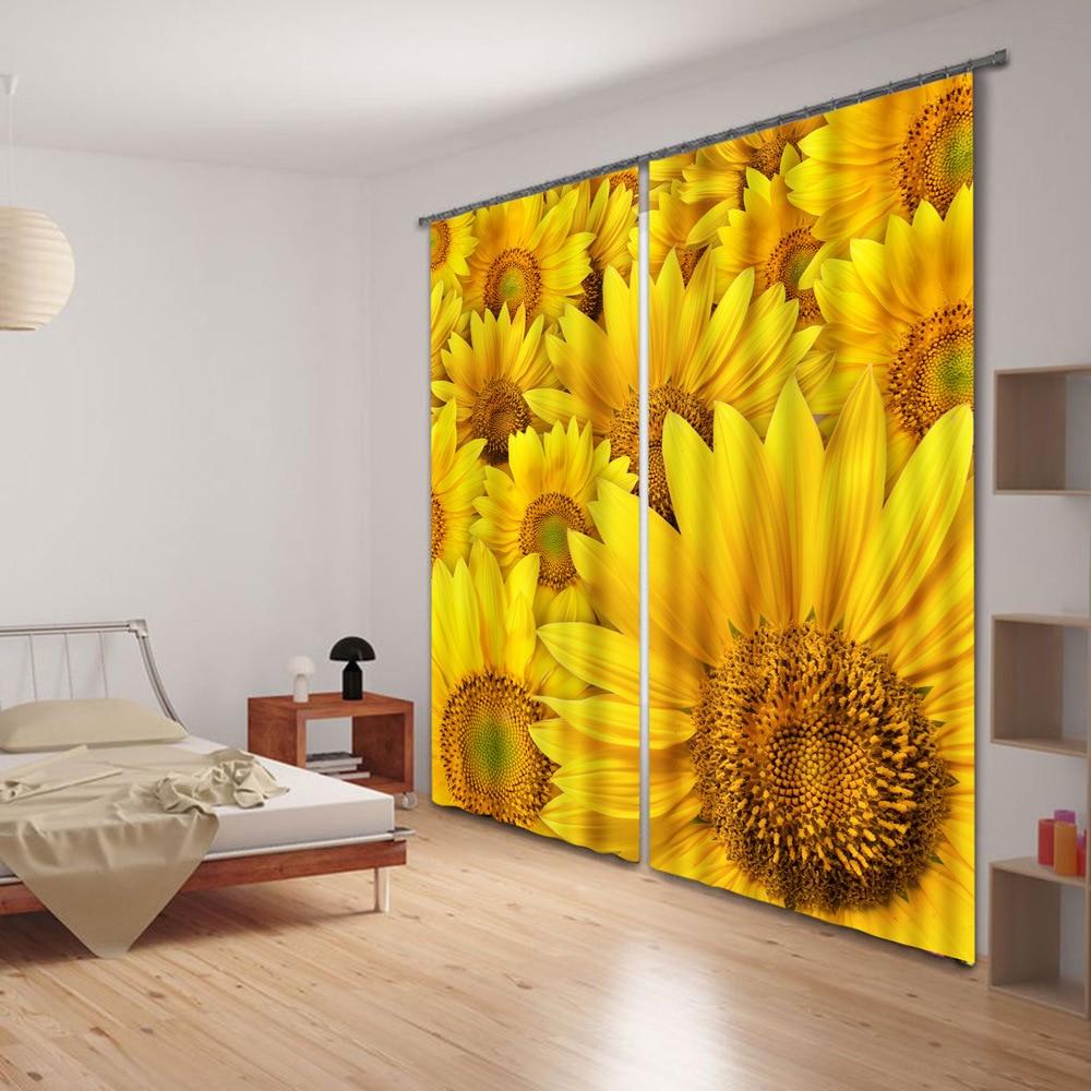 Yellow Curtains For Living Room Online Get Cheap Decoration Golden Curtain Aliexpresscom