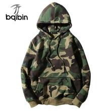 Army Green Camouflage Hoodies 2019 ฤดูหนาว Mens Camo ขนแกะ Pullover Hooded เสื้อ Hip Hop Swag Cotton Streetwear