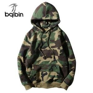 Image 1 - Army Green Camouflage Hoodies 2019 Winter Mens Camo Fleece Pullover Hooded Sweatshirts Hip Hop Swag Cotton Streetwear